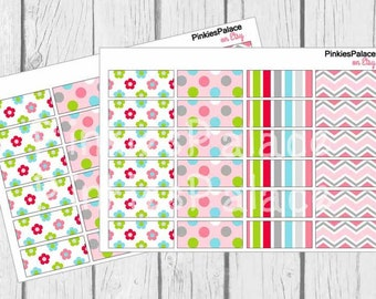 Washi Tape Size Planner Stickers Calender Stickers Reminder Stickers Scrapbook Stickers eclp PS18 Fits Erin Condren Planners