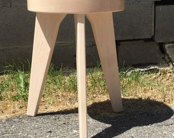 Modern Milkman - Three Legged Maple Stool