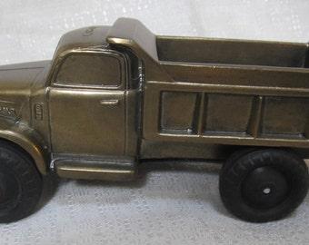 GMC Dump Truck large satin brass made in USA