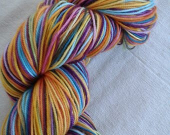 Sportweight Russian Rainbow Self-striping Superwash Merino Yarn