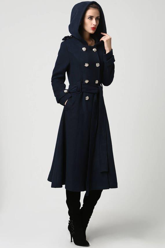 Winter Coat Overcoat Blue coat Wool Coat Womens coats