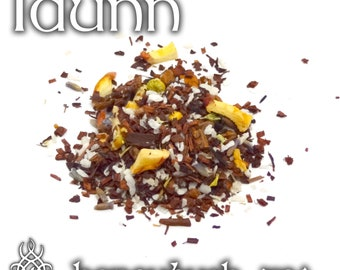 Idunn Devotional Tea - loose leaf honeybush tea, spiced apple tea, golden apple, orchard goddess, goddess tea, Norse goddess, viking tea