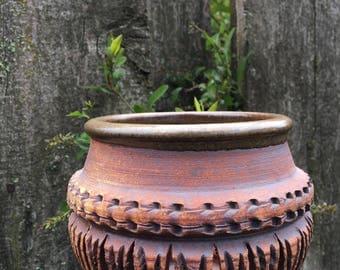 Vintage Calder Pottery Candle Vessel