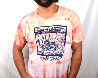 RARE 1980s 80s Vintage Grateful Dead - Fear and Loathing - Tie Dye Tshirt