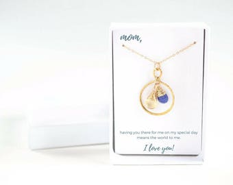 Personalized Mother of Bride Gift - Mother of Bride Gold Necklace - Mother of Bride Custom Necklace - Mother of Bride Necklace