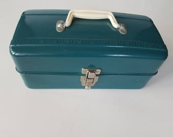 Teal Tackle or Tool Box in Great Condition