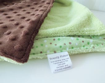 Mint Chocolate Chip Lovey Blanket Baby Toddler