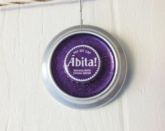 Abita Purple Haze Ornament - Recycled Beer Can