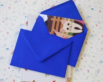 plain Royal Blue C6 envelopes