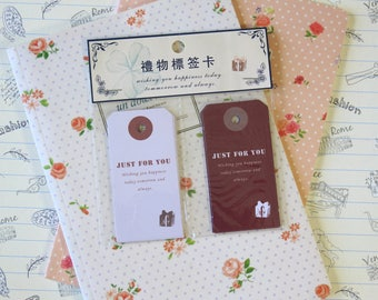 Just for You vintage style message gift tags
