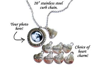Forever In My Heart Necklace / Photo Necklace / Custom Photo Necklace / Photo Pendant / Picture Jewelry / Photo Jewelry / Memorial Necklace
