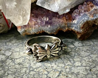 oOo SALE oOo - Thunderbird Ring - Sterling Silver - Size 7 - Handcrafted - Boho - Bohemian - Desert Vibes - Southwest - Native