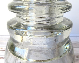 VINTAGE - Armstrong's DP 1 - Clear Glass Telephone Insulator - Collectibles