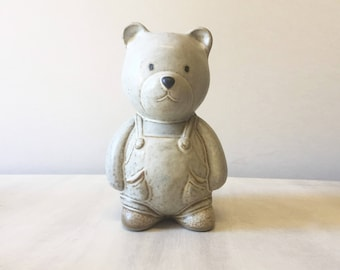 Vintage pottery teddy, vintage teddy bear, pottery bear, teddy bear figurine, ceramic teddy, ceramic bear, teddy collectible, nursery decor