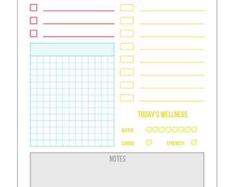 Daily and Weekly Dockets for Planning - Letter Size Planning Printables