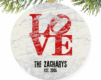 Philadelphia Love Ornament, Philly Love, Tree Ornaments, Robert Indiana, Personalized Ornaments, Wedding Ornament, Christmas Ornaments, Gift