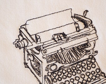 A Vintage Design For The Next Great Writer, Typewriter, Kitchen Towel Proceeds To Charity