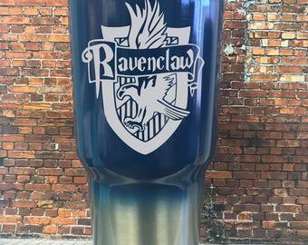 Harry Potter  custom travel mug, Ravenclaw Powder coated Tumbler, harry potter travel mug, personalized Harry Potter Gift
