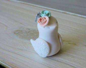 Girl Bird Figurine Handmade Home Decor