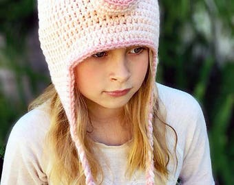 Piggy Hat - Crochet Pattern - Pig Hat - Baby - Child - Adult - Piper the Piggy Hat - Animal Hat - Ava Girl Designs Crochet Pattern