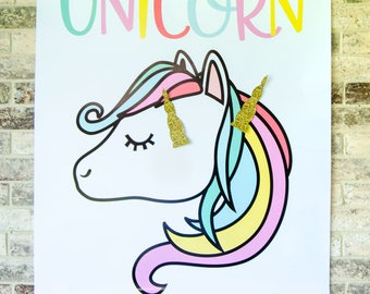 Pin The Horn On The Unicorn Game PRINTABLE by Lindi Haws of Love The Day