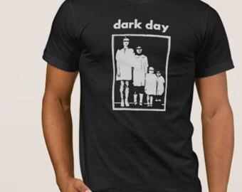 Dark Day   T shirt screen print short sleeve     shirt cotton