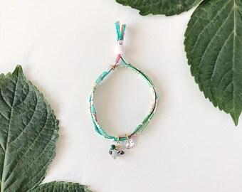Liberty of London Charm Bracelet for Little Girls, Adjustable Size, Mallard Duck Charm, giddyupandgrow