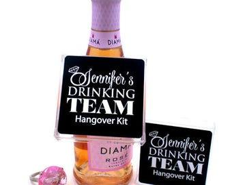 Hangover Kit, Bachelorette party, Mini Bachelorette Hangover Kits, personalized Kit,  UNFILLED, Celebr8tions brand exclusive