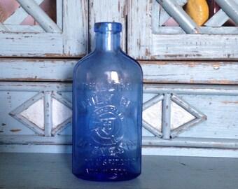 Vintage Milk of Magnesia Cobalt Blue Bottle