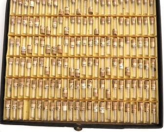 144 Glass Watch Part Tubes in Case with Corks Swiss Metric Staffs Jewelry Mixed Media