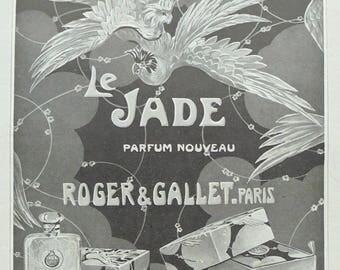 1920's Genuine French Roger & Gallet Perfume Advert - Jade