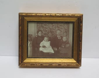 Framed Victorian Family Photo Gold Picture Frame