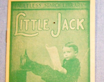 Vintage 1900's FAULTLESS STARCH Story Booklet-Volume #30 - Little Jack-Real Photo-FREE Shipping!