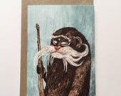 Emperor Tamarin Monkey // Greeting Card