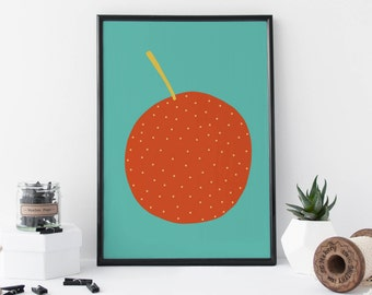 Orange Print - Kitchen Art - Fruit Print - Gift For Her - Food and Drink Print - Food Gift - Kitchen Wall Art - Home Decor – 8 X 11 Print