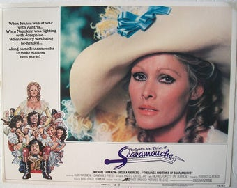 Embassy Pictures ~ The Loves and Times of Scaramouche, URSULA ANDRESS, Michael Sarazin, Original, Color, *Rare*, 1975 ~ Lobby CARD