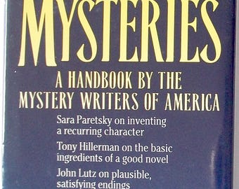 Writer's Digest ~ WRITING MYSTERIES, Handbook by Mystery Writers of America, Edited by Sue Grafton, Hardcover w/ Dust Jacket, 1992 ~ BOOK