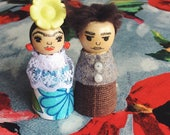 Frida and Diego - pegdolls - boxed set - ornaments