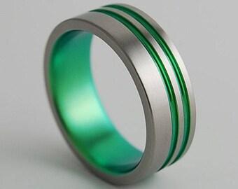 Titanium Ring , Promise Ring , Wedding Band , Mens Titanium Wedding Band , Mens Titanium Wedding Ring , The Andromeda Band