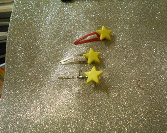 Neon yellow star available on different hair clip to choose from #5024
