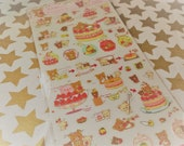 Kawaii Sticker Rilakkuma San-x Strawberry Party  planner stickers scrapbooking for letters labels and tags, crafts, Books, Paper Stationery