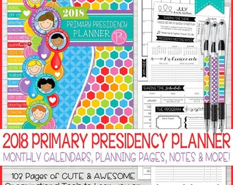2018 PRIMARY Presidency Planner, I Am a Child of God, 2018 LDS Primary Theme, LDS Primary Theme Printables, Calendar - Instant Download