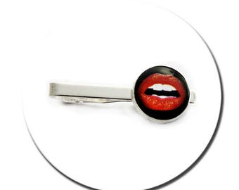 Tie Clip - Kiss Me Red Lips Glamour Pop Art