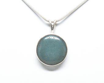 Leland Blue - Sterling Silver Pendant - 18mm Round