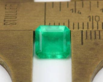 1.50cts Loose Colombian Emerald, Loose Columbian Emerald, Natural Emerald, Green Emerald, Green Beryl, Loose Beryl, Genuine Emerald