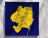 County Wicklow, Ireland  map art | acrylic painting | hand made Irish gift | Leinster wall art |  Irish art