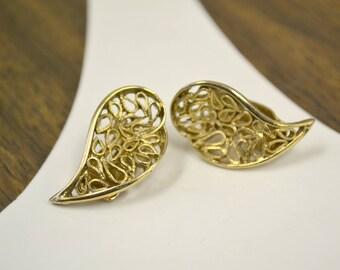 1960s Comma Clip Earrings