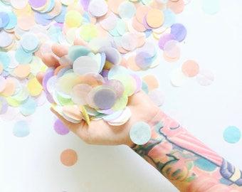 Pastel Rainbow Confetti - Unicorn Party Confetti Toss, Baby Shower Confetti, Confetti Balloon, Bachelorette, Sprinkle Birthday Gender Reveal