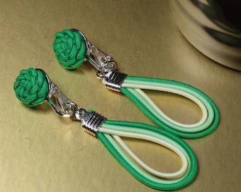 Waterdrop - Flower Knot Earring - Simple, Practical, Elegant, Colorful, 925 Silver Earwire or Clip