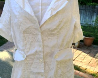 Vintage looking White Nurse/Doctor Coat Costume for Women Size Medium